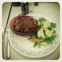Beef Stew in a Bread Bowl :)
