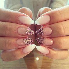Babyboom Mehr - Today Pin - Famous Last Words Pink Glitter Nails, Pink Nail Art, Gel Nail Art, Nail Nail, Nail Polish, Nail Art Designs, Acrylic Nail Designs, Acrylic Nails, Cute Gel Nails