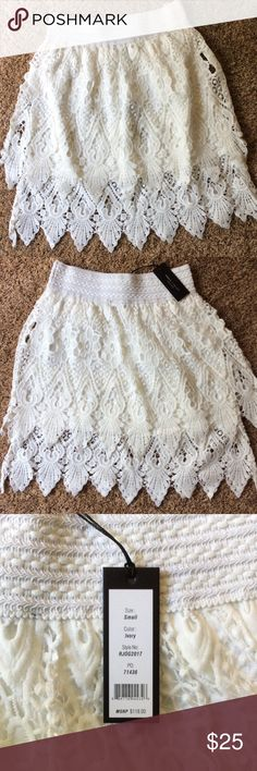 NWT Romeo & Juliet Couture Lace Skirt Beautiful new skirt with lining and two layers of lace. Perfect for summer! Romeo & Juliet Couture Skirts