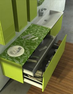 Lime Green Bathroom Vanity