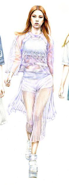 Low classic 2014 s/s - KoreaFashion IllustrationPencil, Colored pencil