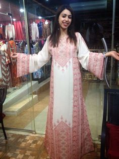 palestinian tradition dress, with beautiful embroidery