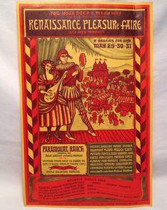 1965 3rd Annual Renaissance Pleasure Faire Print Ad Paramount Ranch California | eBay
