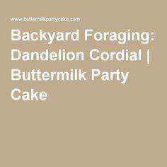 Backyard Foraging: Dandelion Cordial | Buttermilk Party Cake