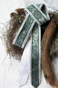 Handfasting* Hochzeit* Ritual* Kelten* Mittelalter* habdmade, Leinen,weiß, grün,