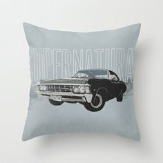 Supernatural: Impala Throw Pillow by Fictional Chick Supernatural Impala, Supernatural Merchandise, Supernatural Theme, My New Room, My Room, Dorm Room, Throw Pillow Covers, Throw Pillows, Comfortable Pillows