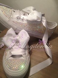 """Great company. Customised Crystal Adult  Wedding Converse """"Ultimate Bridal 2013"""""""
