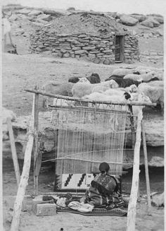 Navaho woman handcrafting a rug. 1920. https://fbcdn-sphotos-a.akamaihd.net/hphotos-ak-ash4/230144_10150582777395578_10150102703945578_18321985_3552593_n.jpg