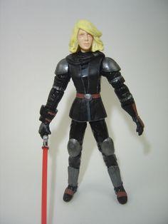 Custom Star Wars SWTOR Lana Beniko 3.75in figure sith jedi mandalorian darth EU