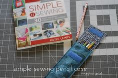 sewing with kids: simple sewing pencil case || imagine gnats
