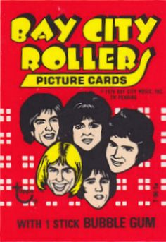 Anniversary Wrapper Art Card - 1975 Bay City Rollers - Print Run: 238 Vintage Candy, Vintage Toys, Sweet Memories, Childhood Memories, Bay City Rollers, Collectible Cards, Collector Cards, Picture Cards, Graphic Design Typography