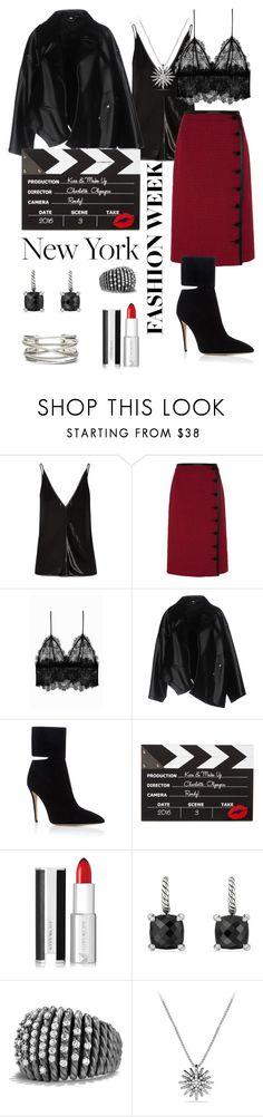 """""""Red black"""" by lomozui ❤ liked on Polyvore featuring Gabriela Hearst, Altuzarra, Anine Bing, Comme des Garçons, Paul Andrew, Charlotte Olympia, Givenchy and David Yurman"""