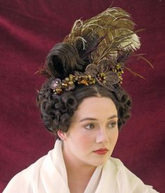 Beautiful Hair and Makeup, throughout the Ages Vintage Hairstyles, Cute Hairstyles, Updo, Historical Hairstyles, Musical Hair, 1800s Fashion, Retro Mode, Vintage Hair Combs, Natural Hair Styles