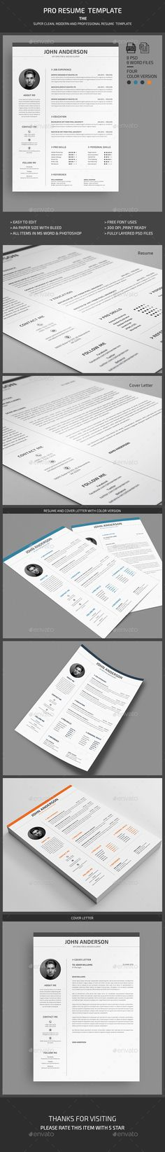 Resume TemplateCv  Cover Letter By Kingdom Of Design On