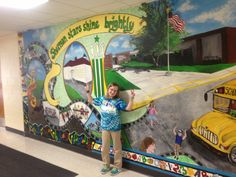 Such a beautiful wall mural!! #RCU #School$ense #RoyalCreditUnion