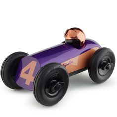 "Classic race-car design with a modern twist. Product Dimension: 8"" length, 4"" width, 4.5"" height Materials: ABS Plastic with high-gloss UV coating. Hand-polishe"