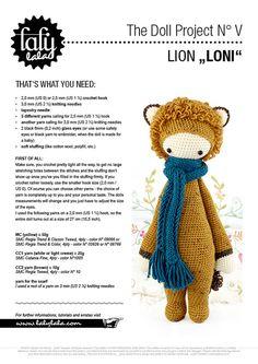 lalylala patrón de crochet LEÓN LONI por lalylala en Etsy