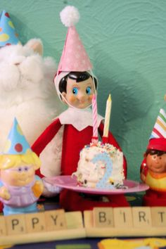 Our Elf on the shelf might come when it's your childs Birthday. Make and Elf birthday cake.  :-)