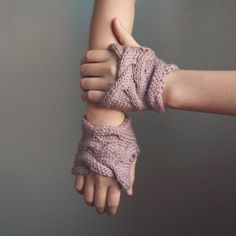 slightly more advanced fingerless cable handwarmers for purchase