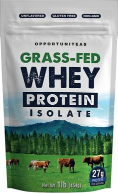 Amazon.com: Grass Fed Whey Protein Powder Isolate | Natural, Unflavored, Easy to Mix | Non GMO and Gluten Free | 1 Lb (454 Grams): Health & Personal Care