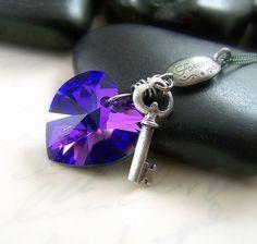 Purple Fashion Heart Jewelry Valentine by WillowCreekJewelry