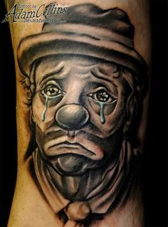 Image detail for -Dave Egypt the cab's sad clown tattoo. in TATTOOS by Gangsta Tattoos, Weird Tattoos, Boy Tattoos, Body Art Tattoos, Sleeve Tattoos, Tatoos, Awesome Tattoos, Trendy Tattoos, Tattoo Art