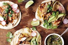 Chicken breasts aren't the only cut sold skinless and boneless. Thighs are, too. They're fattier than breasts, which means they're more flavorful; plus, they're less expensive. Put them to work in any fast weeknight preparation, starting with these spiced tacos. - Find the recipe for Grilled Chicken Tacos and other tortillas recipes at Epicurious.com