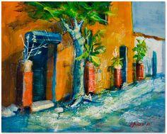 "Original Contemporary Modern Acrylic Landscape, Old Manhattan street, ""Charles Lane"" - 16""x20""x3/4"" , painting by MartaAstar by MartaAstar on Etsy https://www.etsy.com/listing/161146211/original-contemporary-modern-acrylic"