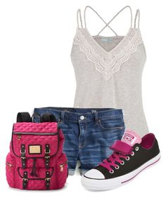 """""""Untitled #8666"""" by nanette-253 ❤ liked on Polyvore featuring maurices, J.Crew, Converse and Juicy Couture"""