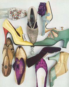 shoe ❤   vogue 1956 #vintage #style #1950s #fashion