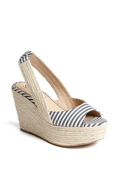 @Kate Goodwin Barton, these would be so perfect for you, with your white capris and a chambray top, cool knit top, or white shirt & blazer for work. Splendid 'Perfect' Espadrille Sandal | Nordstrom