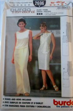 Burda 2696 Women's Evening Dress Sewing Pattern by Denisecraft, $5.99