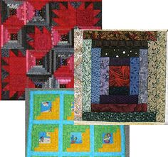 Easy Log Cabin Quilt Pattern... No Templates Required: Log Cabin Quilt Pattern Variations