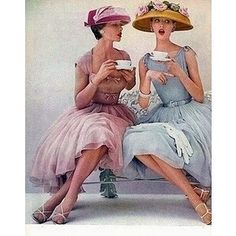Love the idea of a tea party with frilly dresses! #pinyoulove #picmonkey