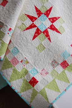 Love this quilt. I made a similar block out of 1940s reproductions, but I like this version too. From Cotton Way