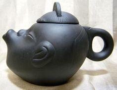 Chinese Figural Yixing Yixin Zisha Clay Teapot Signed  picclick.com