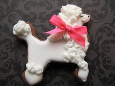 :: Poodle cookie. yes!!!!! But they need to be black and no hair bows, just a fabulous scarf for jack of course!!!! ::