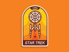 Star Trek badge  by Aleksandar Savic #Design Popular #Dribbble #shots