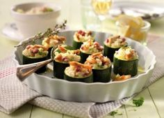 Gefüllte Zucchini mit Hähnchen-Risotto-Füllung