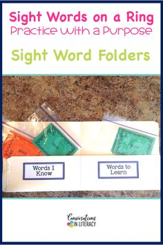 Sight Word Folders Ideas for Sight Word Activities that are fun, easy and effective during guided reading small groups!  Great for teaching hands on, using games, magnetic letters, flash cards printables, worksheet alternatives, for any list.  Perfect for struggling readers too!  #phonics #sightwords #guidedreading #sightwordactivities #classroom #elementary #conversationsinliteracy #kindergarten, #firstgrade #secondgrade #thirdgrade kindergarten, first grade 2nd grade, 3rd grade