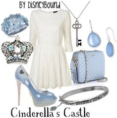 Disneybound- Cinderella's Castle, Magic Kingdom; Walt Disney World