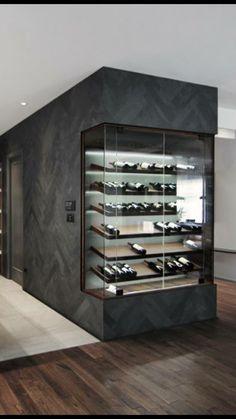 Michael Godmer designer #WineFridge Glass Wine Cellar, Home Wine Cellars, Wine Cellar Design, Wine Design, Wine Cellar Modern, Design Design, Wine Glass, Zigarren Lounges, Home Bar Designs