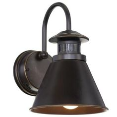 Hampton Bay 180-Degree Oil Rubbed Bronze Motion-Sensing Outdoor Wall Lantern-HB48017MP-237 - The Home Depot