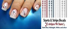 Stars & Stripes nails...just in time for Memorial Day & 4th of July