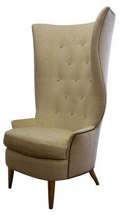 Gudinna Barrel Tall Wing Chair - Bjork Studio - Chosen by Eleish Van Breems