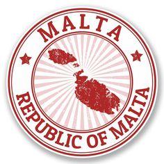2 x Malta Vinyl Sticker #4713