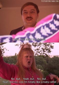 Little Britain is our favourite all-time sketch! Full of inappropriateness, offensive jokes, whacks. Little Britain, All About Time, Jokes, Husky Jokes, Memes, Funny Pranks, Lifting Humor, Humor, Pranks
