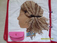 Hair braid quiet book page