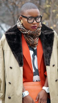 Glamorous by matching South African Accessories with a Boyish Fur Coat