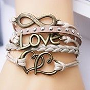 Leather Bracelet Multilayer Alloy Love and Heart Infinite Handmade Bracelet. Get incredible discounts up to 60% Off at Light in the Box using Coupon and Promo Codes.